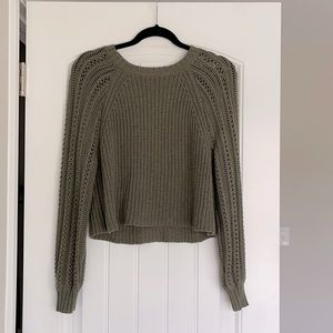 American Eagle Knit Sweater Green Size XS